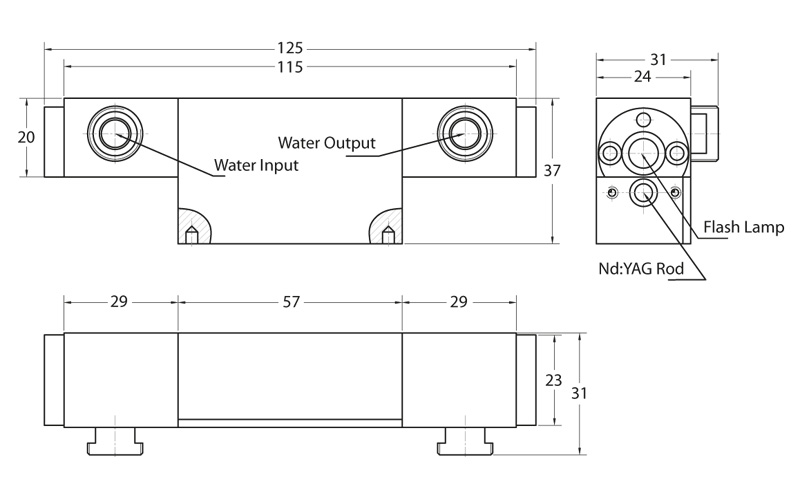 MA1 series pump chamber drawing