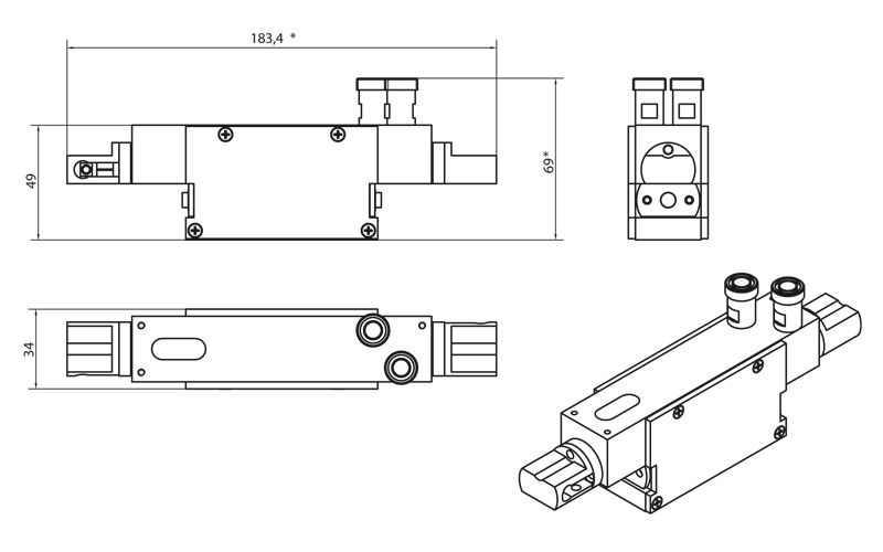 NL301 series pump chamber drawing