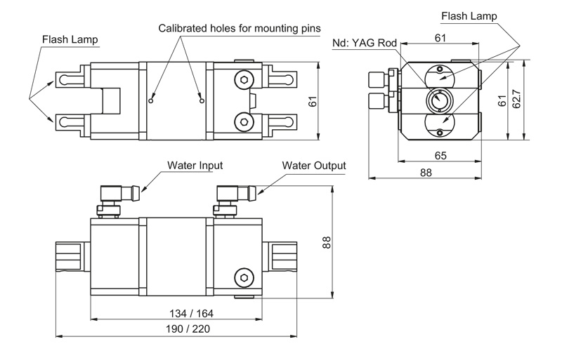 2MA12-58 / 2MA12-90 models pump chambers drawing