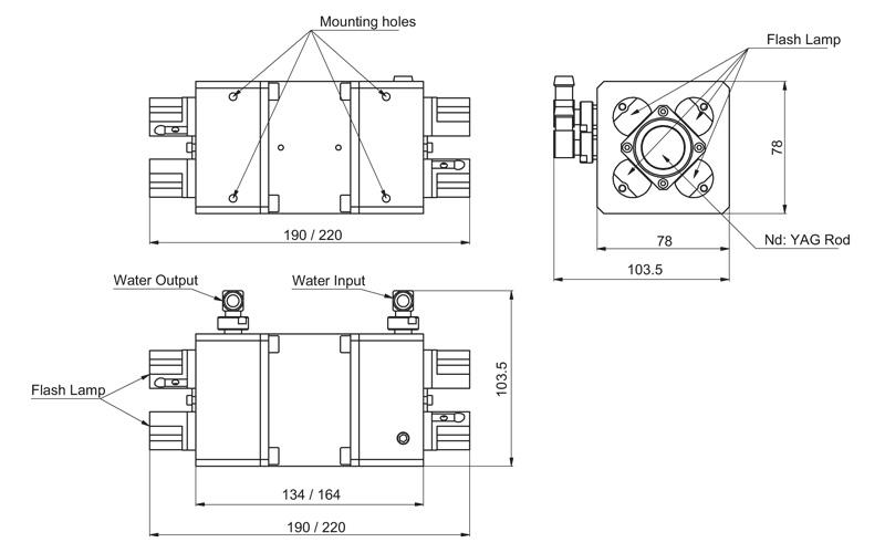 4MA25-58 / 4MA25-90 models pump chambers drawing