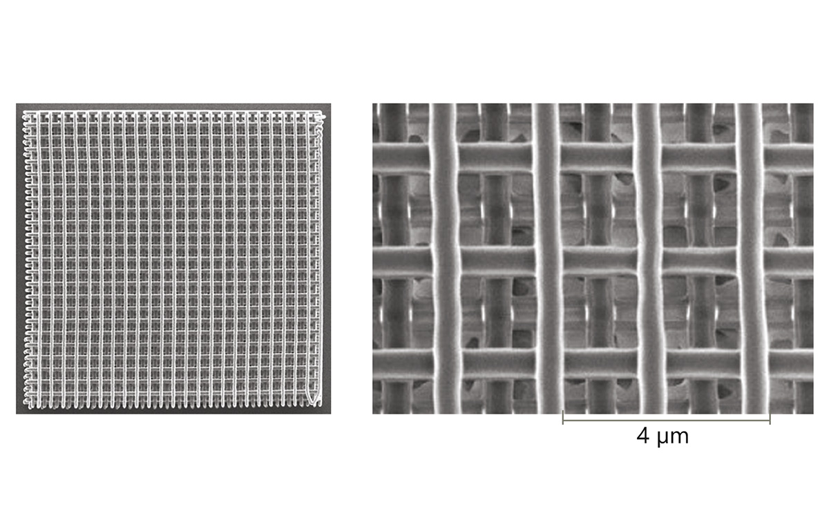 Photopolymerization samples made with FemtoLux.  <i>Courtesy of Workshop of Photonics</i>
