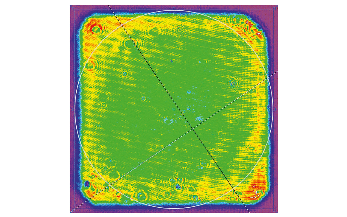 Spatial shaping of 33 J @ 1053 nm output pulses (beam of rectangular shape)