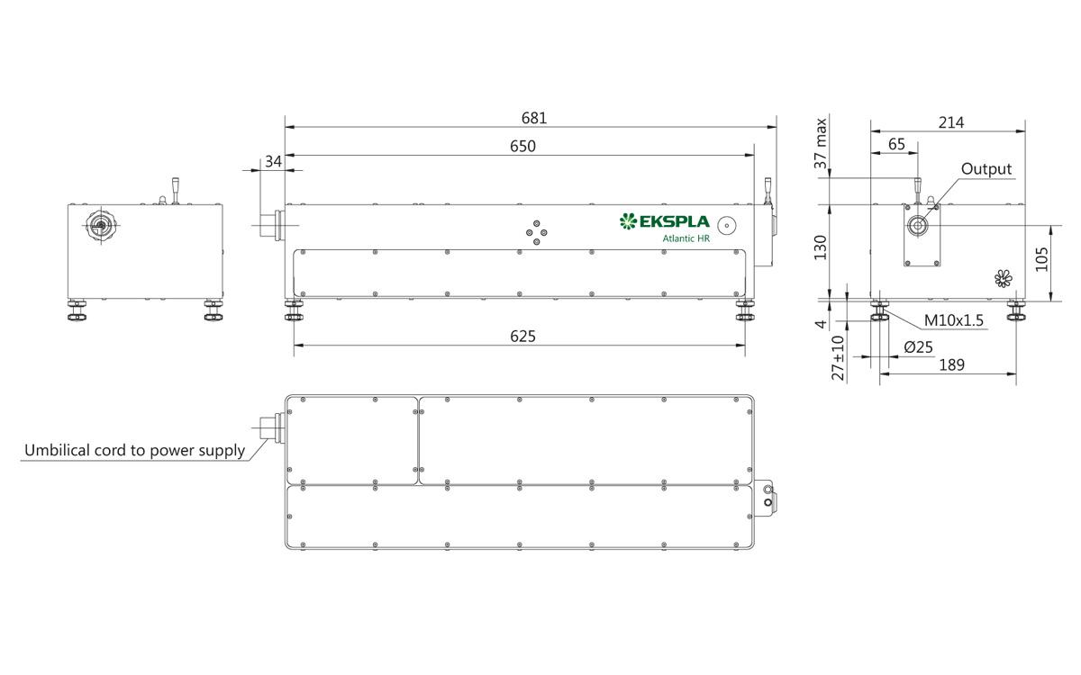 Atlantic HR-355 laser head outline drawings