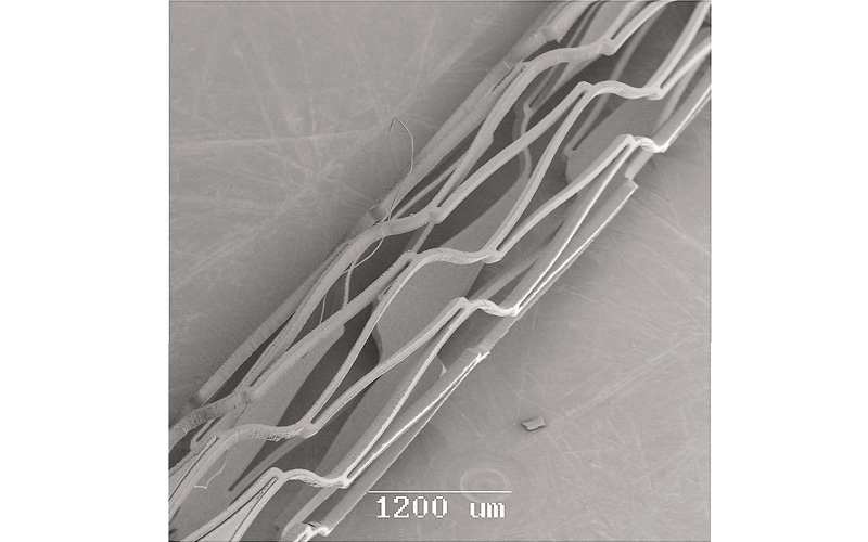 Stents cut from the Nitinol. <br><i>Courtesy of CORTTRONIK GmbH & Co, KG</i>