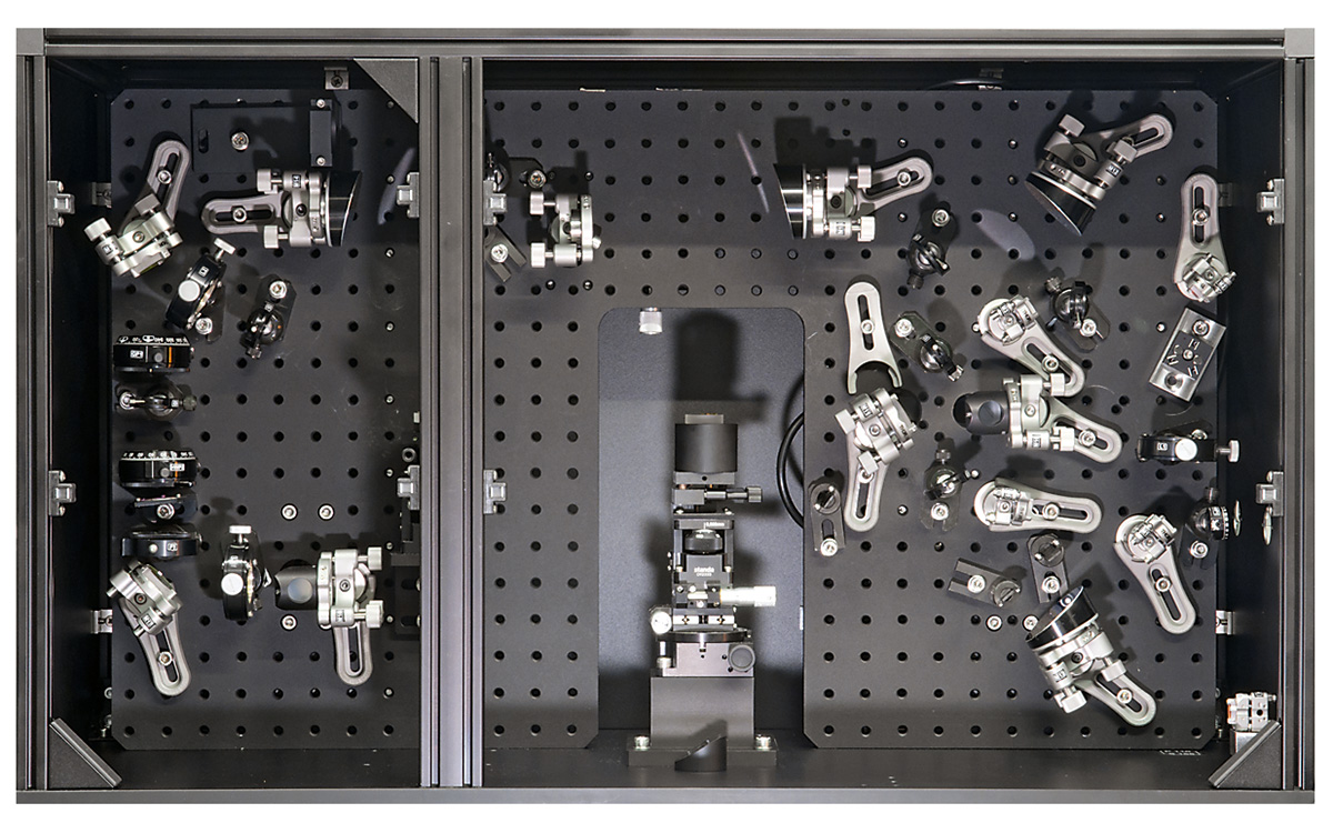 Internal view of Phase-sensitive SFG spectrometer spectroscopy module
