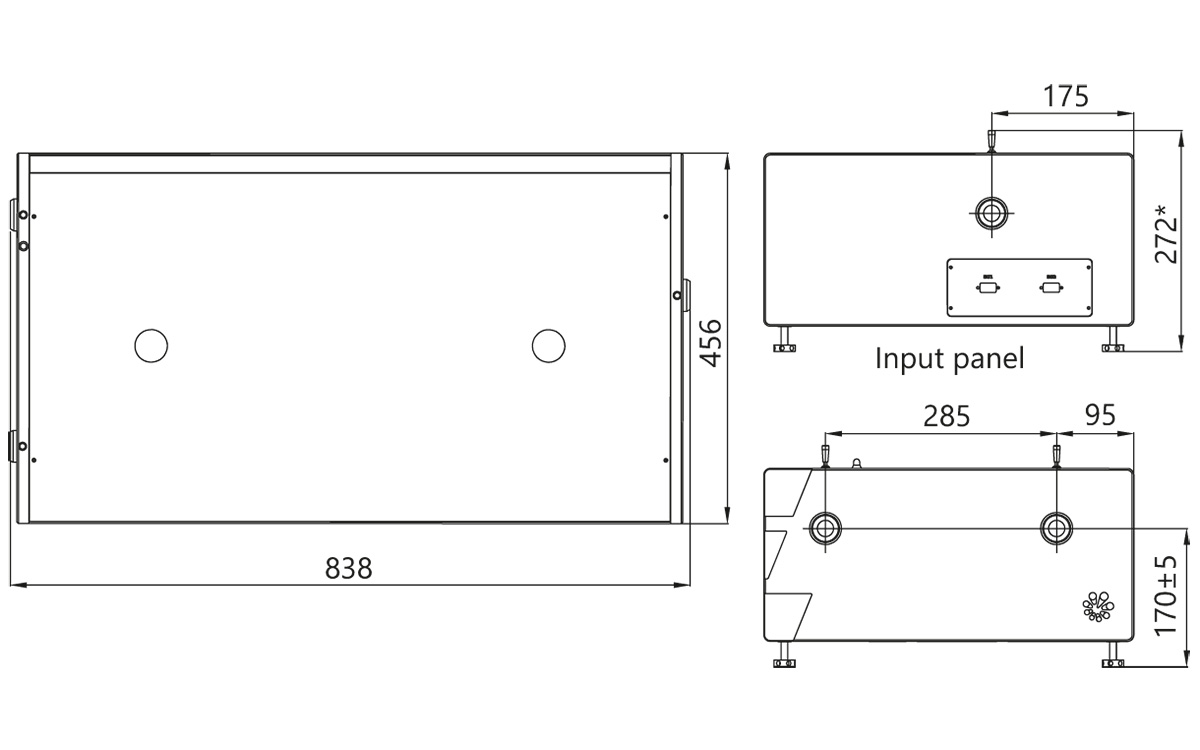 PGx03-SH model external dimensions