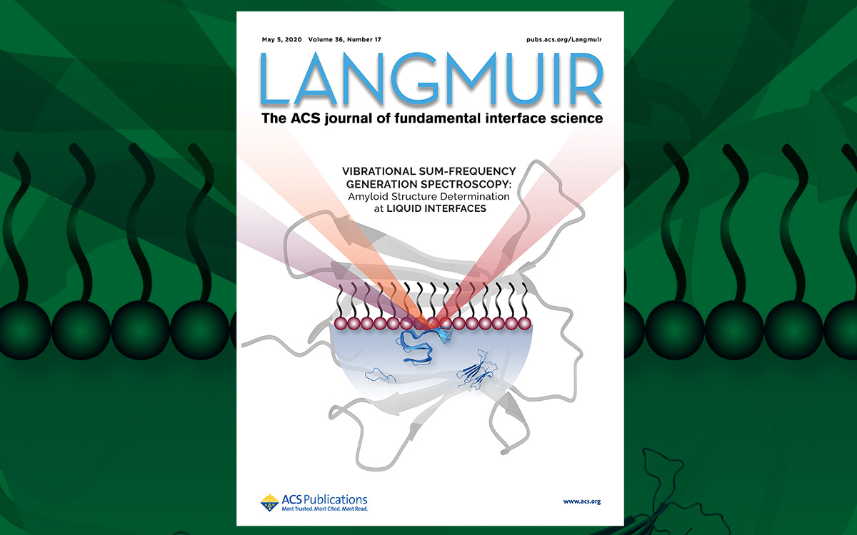 Langmuir cover features picture of employing the SFG spectrometer in neurodegenerative diseases studies
