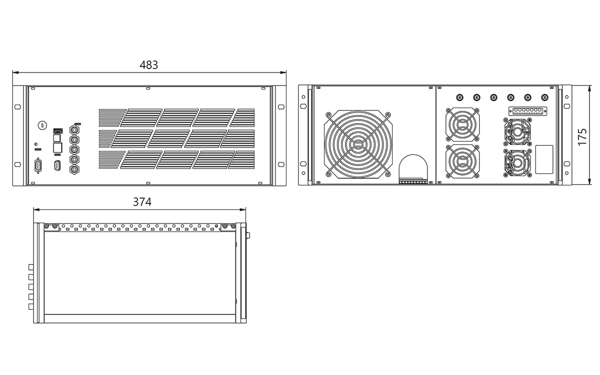 Power supply outline drawing
