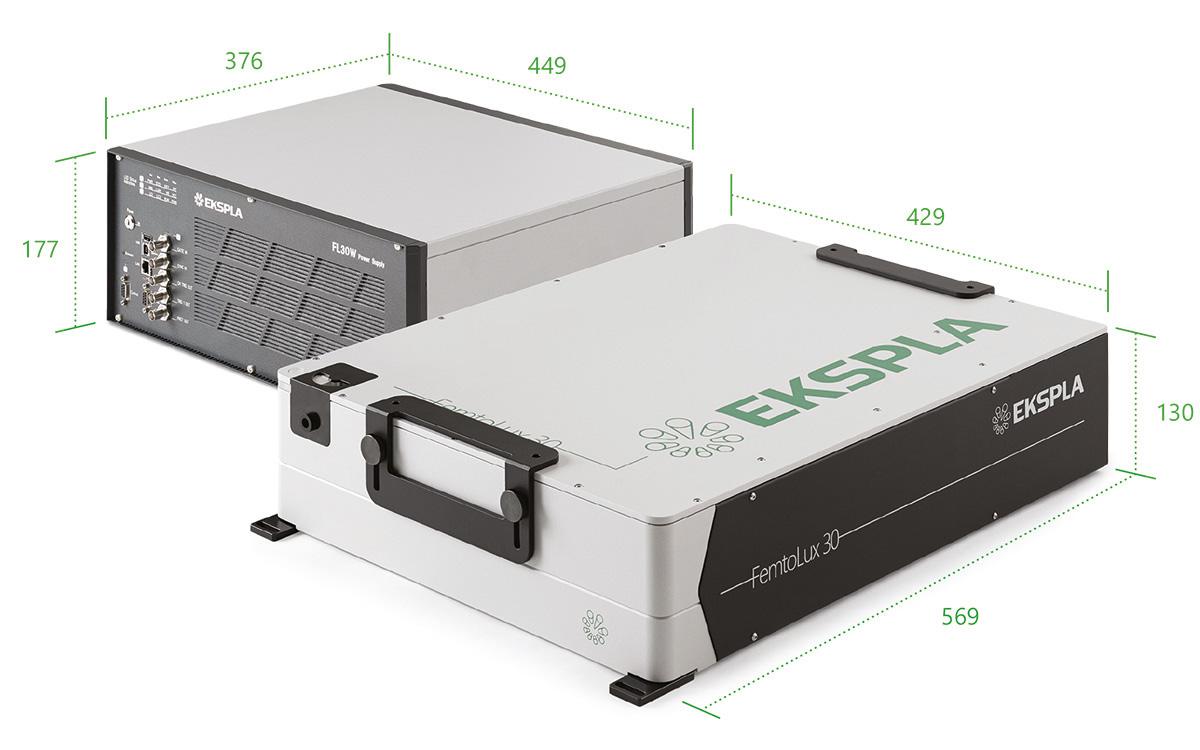 Industrial Femtosecond Laser FemtoLux 30 with power supply