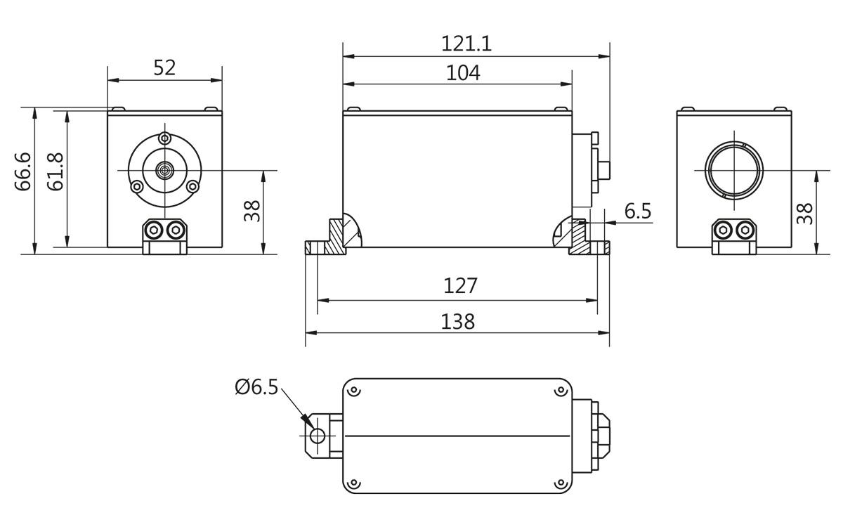 LightWire FPS200 laser isolator & collimator node outline drawing