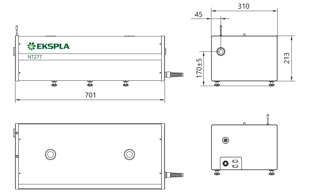 NT277 series laser head dimensions