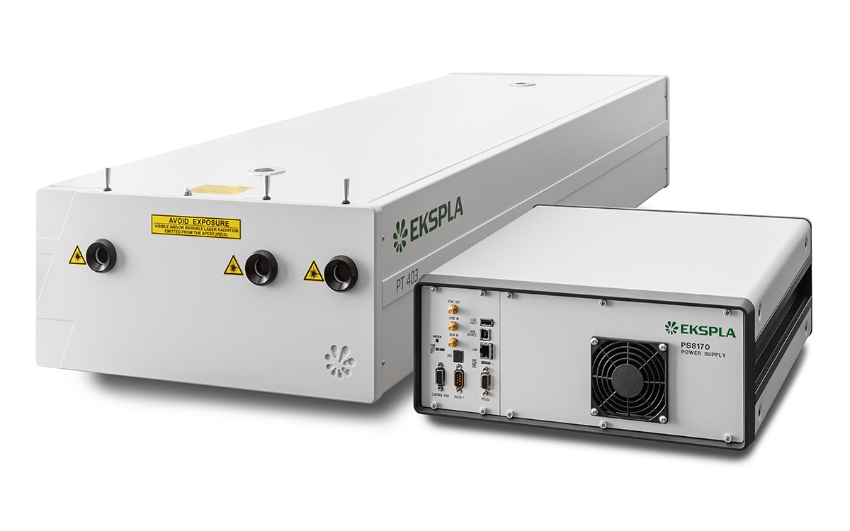 PT403 tunable picosecond laser features compact power supply and is air cooled – external water supply is not required